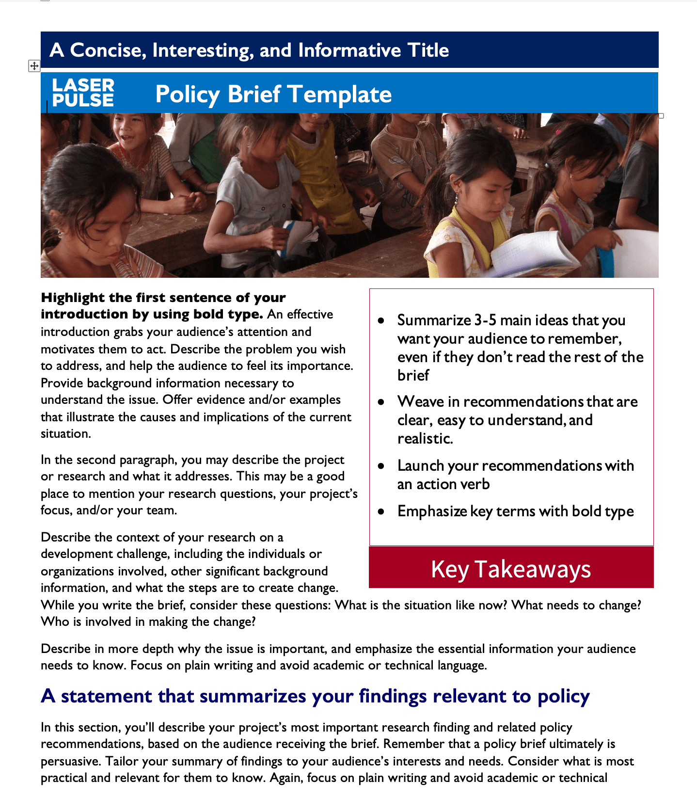 Policy Brief Template